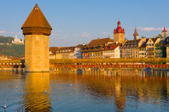 Luzern in a summer morning Stock Photography