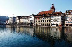 luzern switzerland Royaltyfri Fotografi