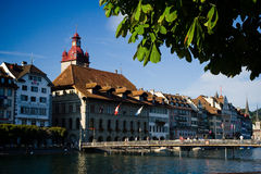 Luzern Switzerland. Luzern has long been one of Europe's most heavily touristed towns. When Queen Victoria came for a long holiday in August 1868, the town was Stock Photos