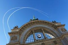 Luzerne-Bahnstation Stockfotografie