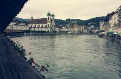 Luzerne-Brug Stock Fotografie
