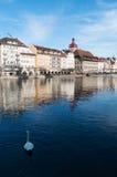 Luzerne, capital de canton de luzerne, Suisse centrale, l'Europe Images libres de droits