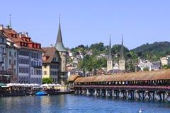 Luzerne-cityscape Stock Foto