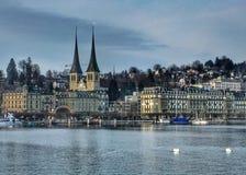 Luzerne de vue de Lakeside Photo libre de droits