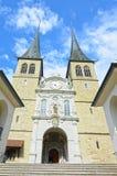 Luzerne - Hofkirche cathedral Stock Photos