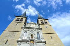 Luzerne - Hofkirche cathedral Royalty Free Stock Image