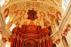 Luzerne intérieure Suisse d'église de jésuite Image libre de droits