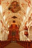 Luzerne intérieure Suisse d'église de jésuite Images stock