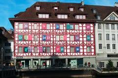 Luzerne, kapitaal van Kanton van Luzerne, Centraal Zwitserland, Europa Stock Afbeeldingen