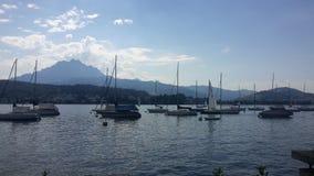 Luzerne-meer Royalty-vrije Stock Afbeeldingen