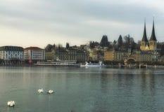 Luzerne pittoresque de vue de Lakeside Images stock