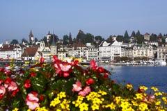 Luzerne-Promenade stockfotos