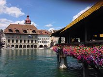 Luzerne-rivier Stock Foto