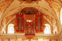 Luzerne Suisse d'organe d'église de jésuite Photo stock