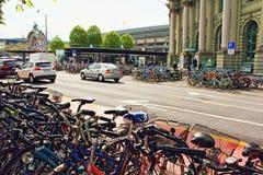Luzerne Suisse de stationnement de bicyclette Photographie stock libre de droits