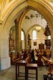 Luzerne, Suisse - 19 octobre 2017 : Intérieur et fresques o Photos libres de droits