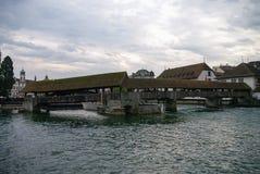 Luzerne, Switzerland.  Spreuer bridge (Spreuerbruecke)  in the o Royalty Free Stock Photo
