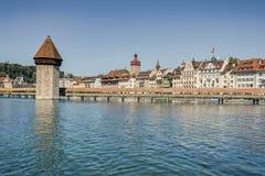 Luzerne-waterkant kapell brug Stock Foto