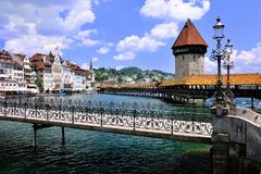 Luzerne in Zwitserland Stock Foto's