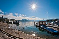 Luzerner See Lizenzfreie Stockbilder
