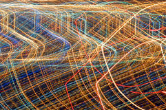 Luzes abstratas da cidade Imagens de Stock