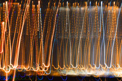 Luzes abstratas da cidade Imagem de Stock