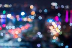 Luzes abstratas da cidade do bokeh da textura Imagem de Stock Royalty Free