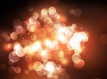 Luzes abstratas de Bokeh Imagem de Stock Royalty Free