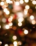Luzes abstratas de Chirstmas Fotografia de Stock