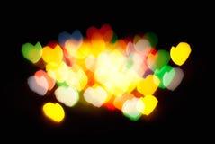 Luzes abstratas do coração foto de stock royalty free