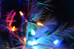 Luzes abstratas do feriado das luzes de Natal Imagens de Stock
