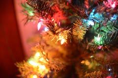 Luzes abstratas do feriado das luzes de Natal Imagem de Stock Royalty Free