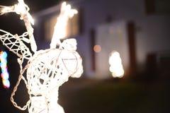 Luzes abstratas do feriado das luzes de Natal Fotos de Stock Royalty Free