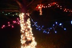Luzes abstratas do feriado das luzes de Natal Imagens de Stock Royalty Free