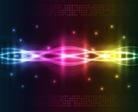 Luzes abstratas - fundo colorido Ilustração Stock