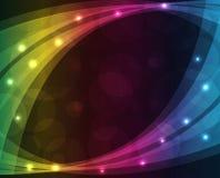 Luzes abstratas - fundo colorido Fotos de Stock