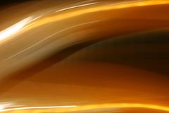 Luzes alaranjadas brilhantes de fluxo ilustração do vetor
