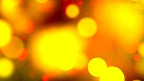 Luzes alaranjadas com bokeh Fundo loopable abstrato filme