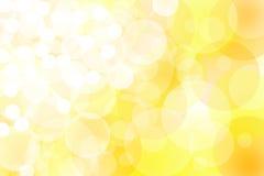 Luzes amarelas abstratas imagem de stock
