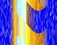 Luzes amarelas azuis dos contrastes, textura, fundo abstrato ilustração do vetor