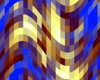 Luzes amarelas azuis dos contrastes, textura, fundo abstrato ilustração stock