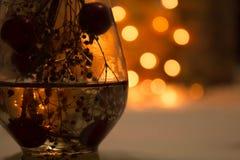 Luzes amarelas e alaranjadas do bokeh macio no fundo Imagem de Stock Royalty Free
