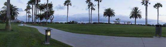 Luzes ao longo de um trajeto no Laguna Beach, Califórnia do sul Fotos de Stock Royalty Free