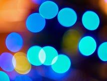 Luzes azuis Fotografia de Stock