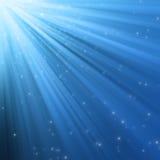 Luzes azuis abstratas ilustração royalty free