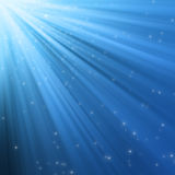 Luzes azuis abstratas Fotos de Stock
