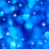 Luzes azuis do feriado Fotografia de Stock