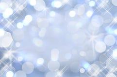 Luzes azuis pasteis brilhantes Imagem de Stock
