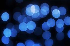 Luzes azuis Unfocused Imagem de Stock Royalty Free