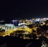 Luzes Barcelona da noite imagens de stock royalty free